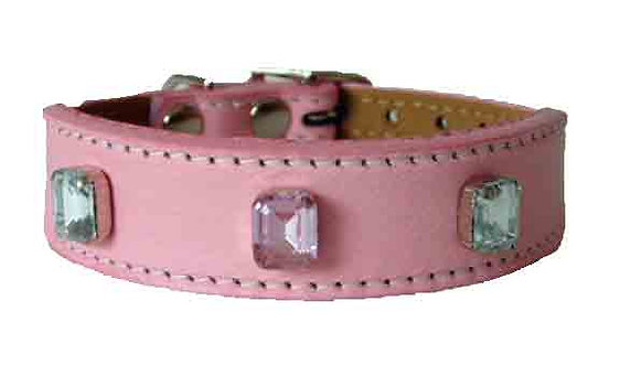 Pink Luscious Jewelled Tapered Collar