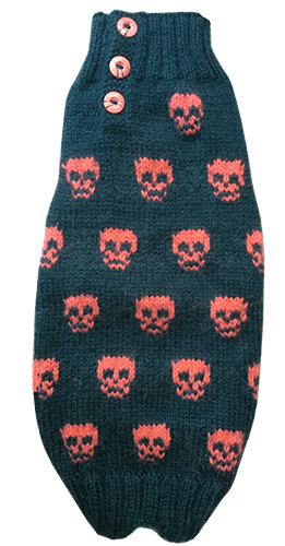 Sweater Green Pink Skulls