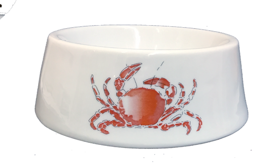 Red Crab Ceramic Bowl