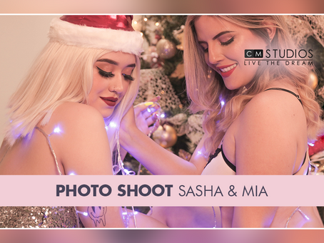 Photo shoot: Sasha Rouge & Mia Potter - xmas
