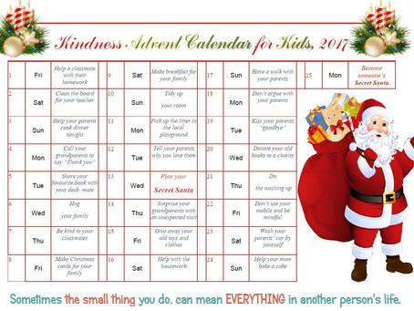 Kindness Advent Calendar- Free Template