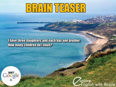This week´s brain teaser