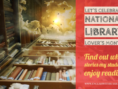 Let´s celebrate National Library Lover´s Month