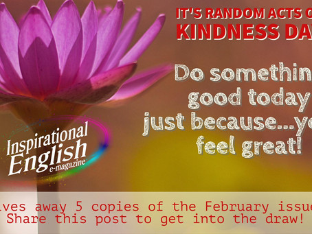 """Random Acts of Kindness Day"" Giveaway"