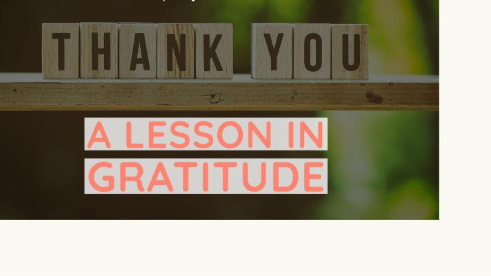 Lesson plan for gratitude