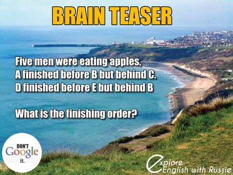 Brain Teaser 14th June