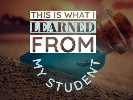 This is what I learned from my student