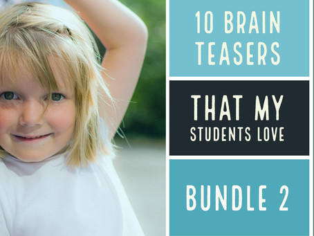 10 brain teasers that my students love- FREE bundle II