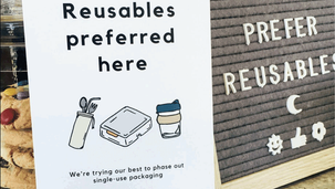 Helping cafes form the habit of reusables