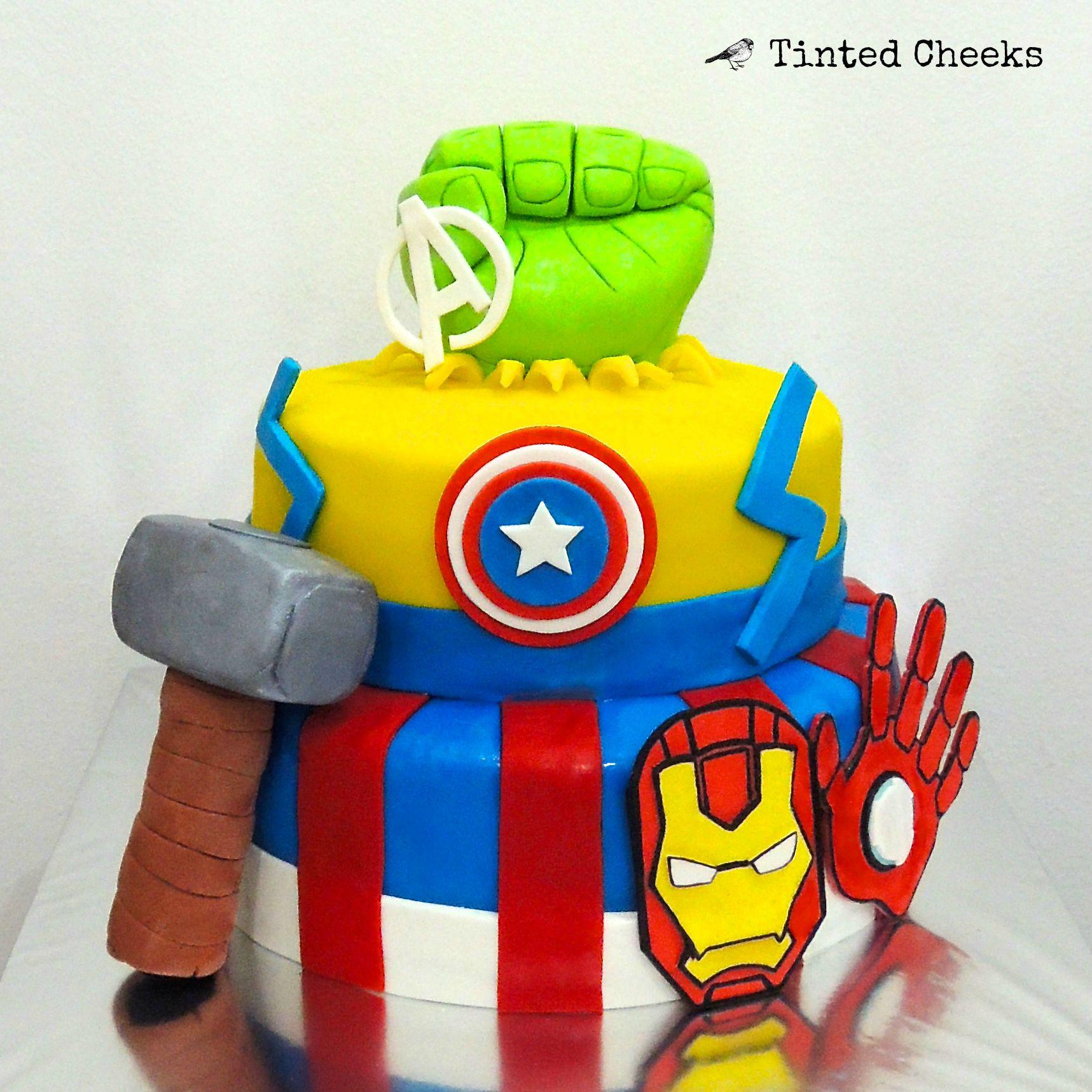 Avengers Cake (hulk, thor, captain america, iron man).jpg