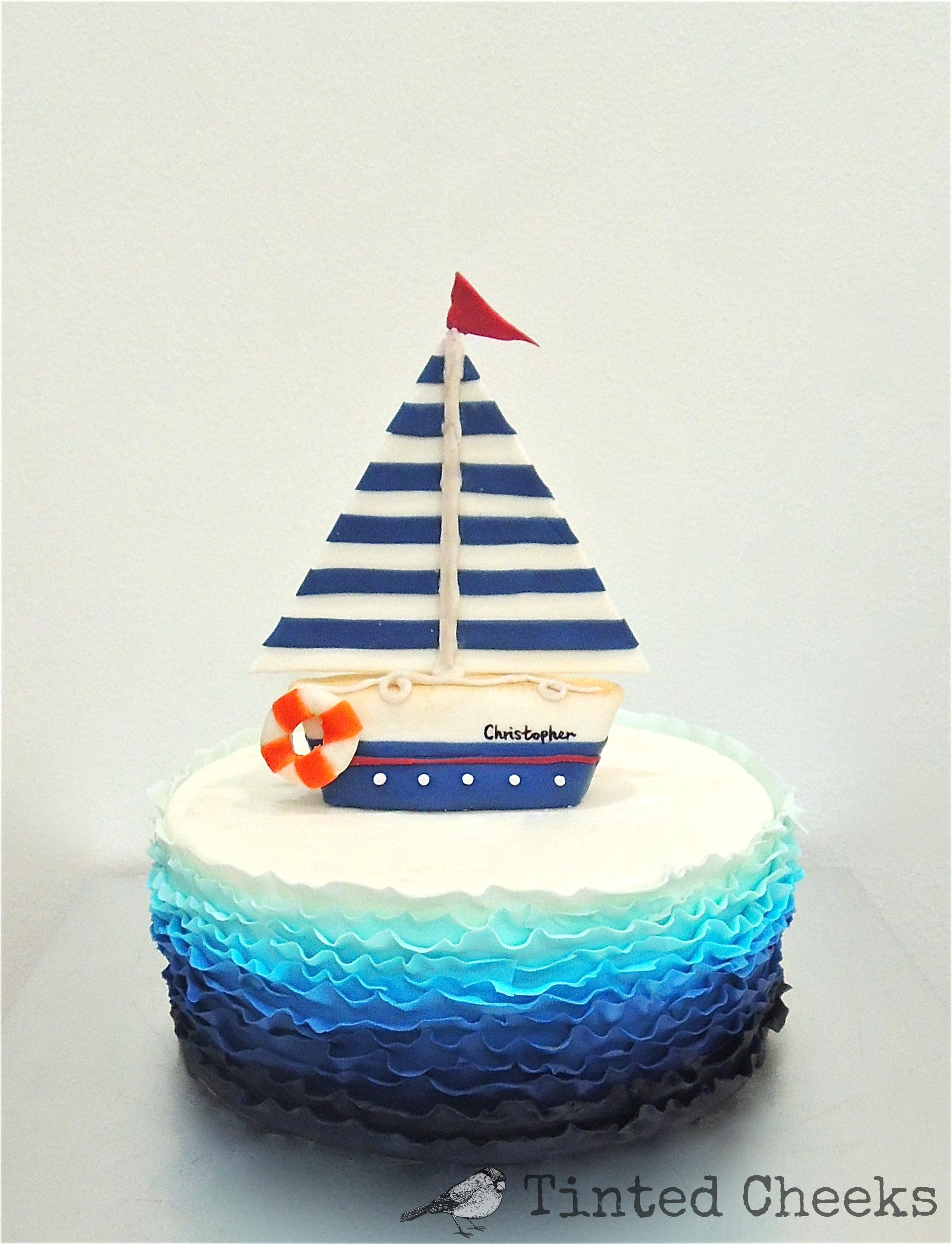 Blue Ombre Ruffled Sail Boat Cake.jpg
