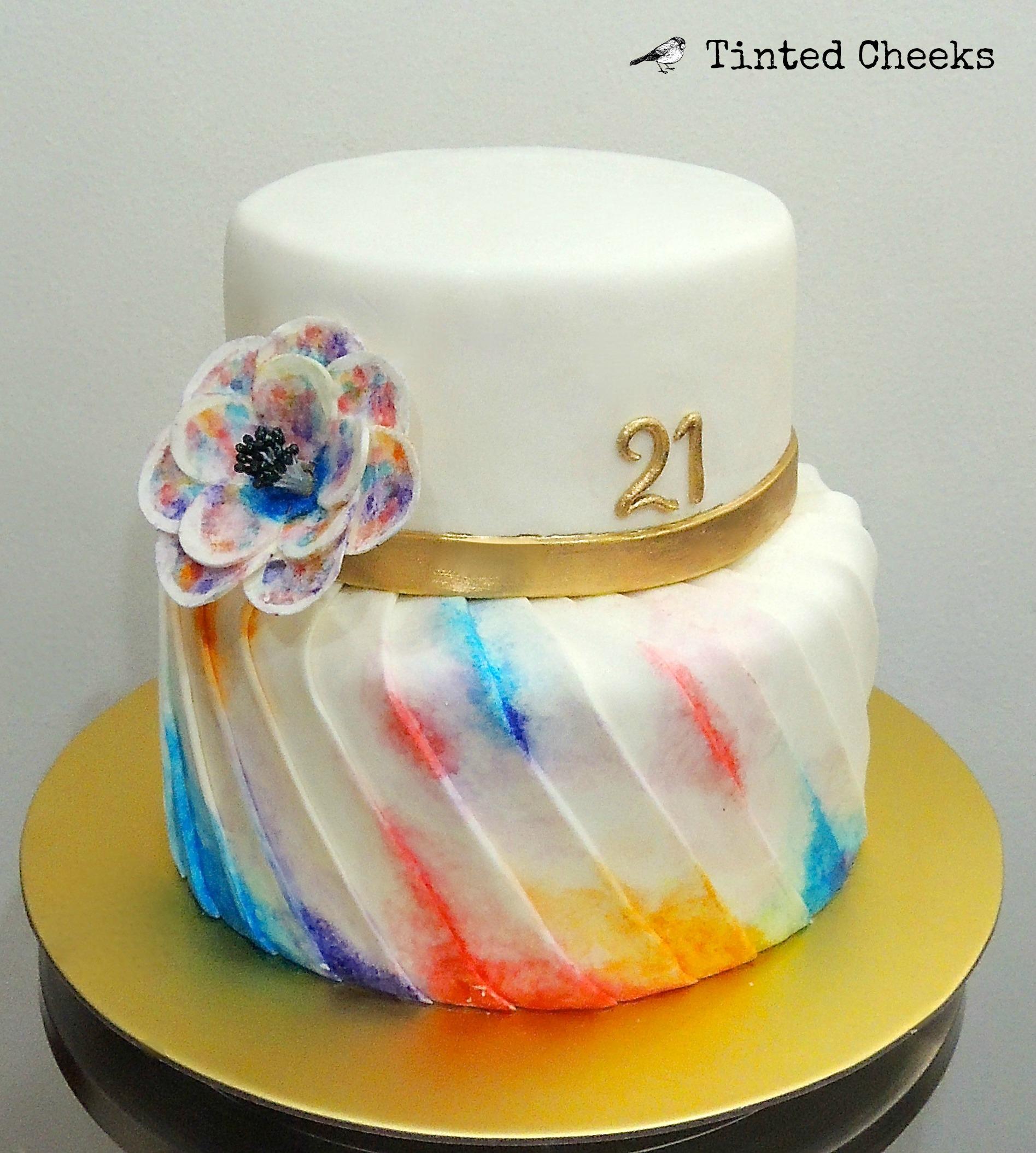 Watercolour Pleated Cake.jpg