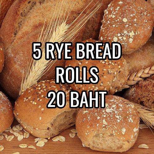 5 RYE BREAD ROLLS