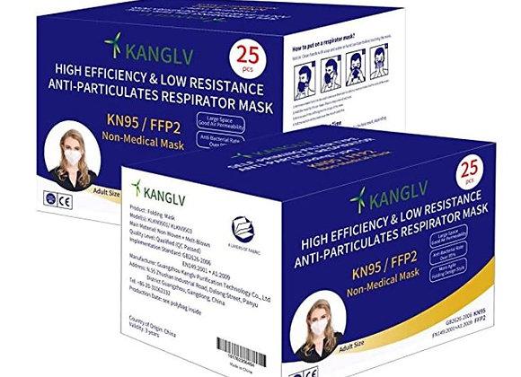 KN95 KANG Mask-FDA Registered (25 Individually Packaged Masks)