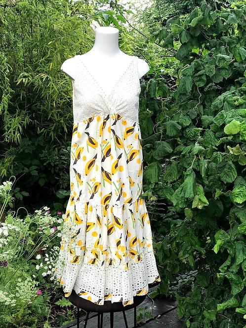 Cute cream and yellow bird dress