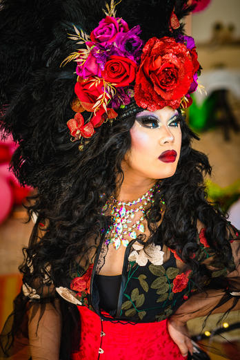 Miss Asia Thorne- Drag Queen- styled by V V Raven