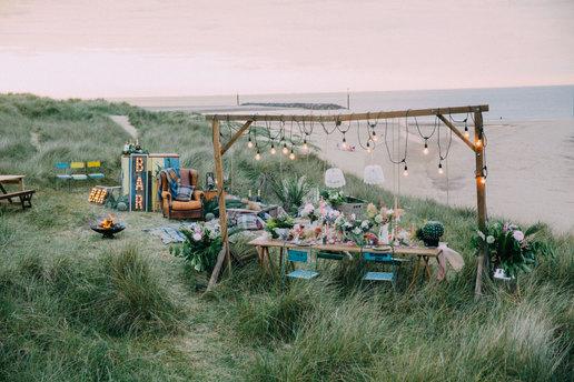 Norfolk Beach tablescape
