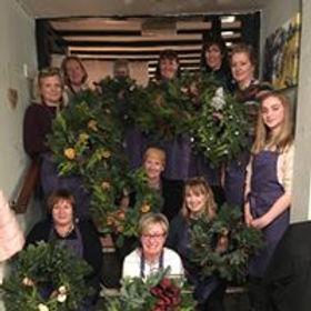 V V Raven wreath workshop at The Anchor,