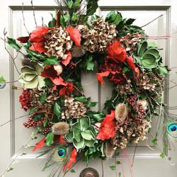 V V Raven wild and wonderful Autumn wreath