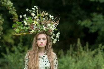 Beautiful faux and fresh flower crown