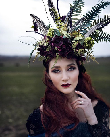 Wild and Wonderful faux floral crown