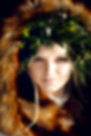 Foliage flower crown V V Raven styling