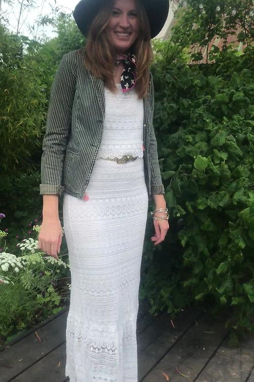 Beautiful cream lace tiered dress