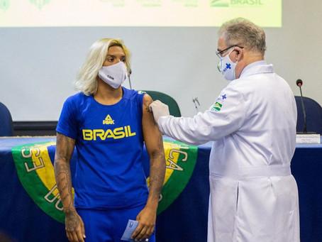 Atletas do DF que vão representar o Brasil nas Olimpíadas de Tóquio foram vacinados segunda-feira