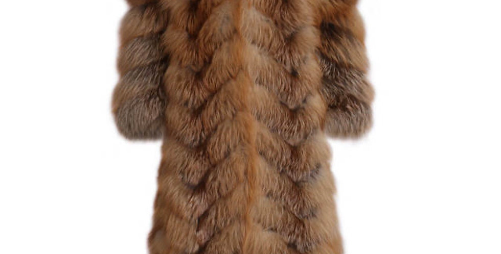 Brown red fox trench