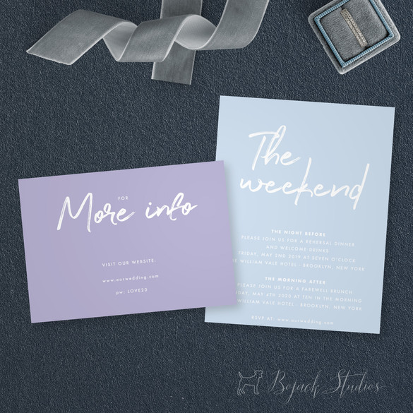 Insert Cards | Modern Minimal Floral Wedding Invitation | Addison Graphique by Bojack Studios
