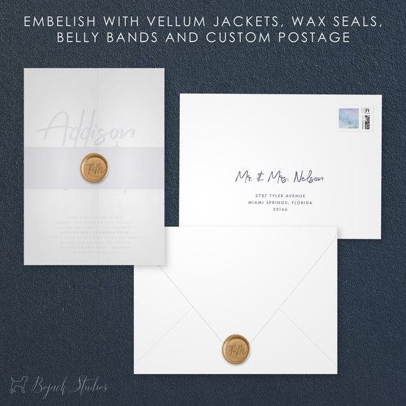 Embellishments   Modern Minimal Floral Wedding Invitation   Addison Graphique by Bojack Studios