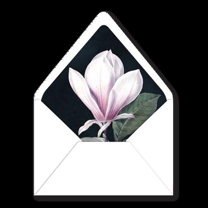 Envelope Liner | Modern Minimal Floral Wedding Invitation | Addison Fleur by Bojack Studios