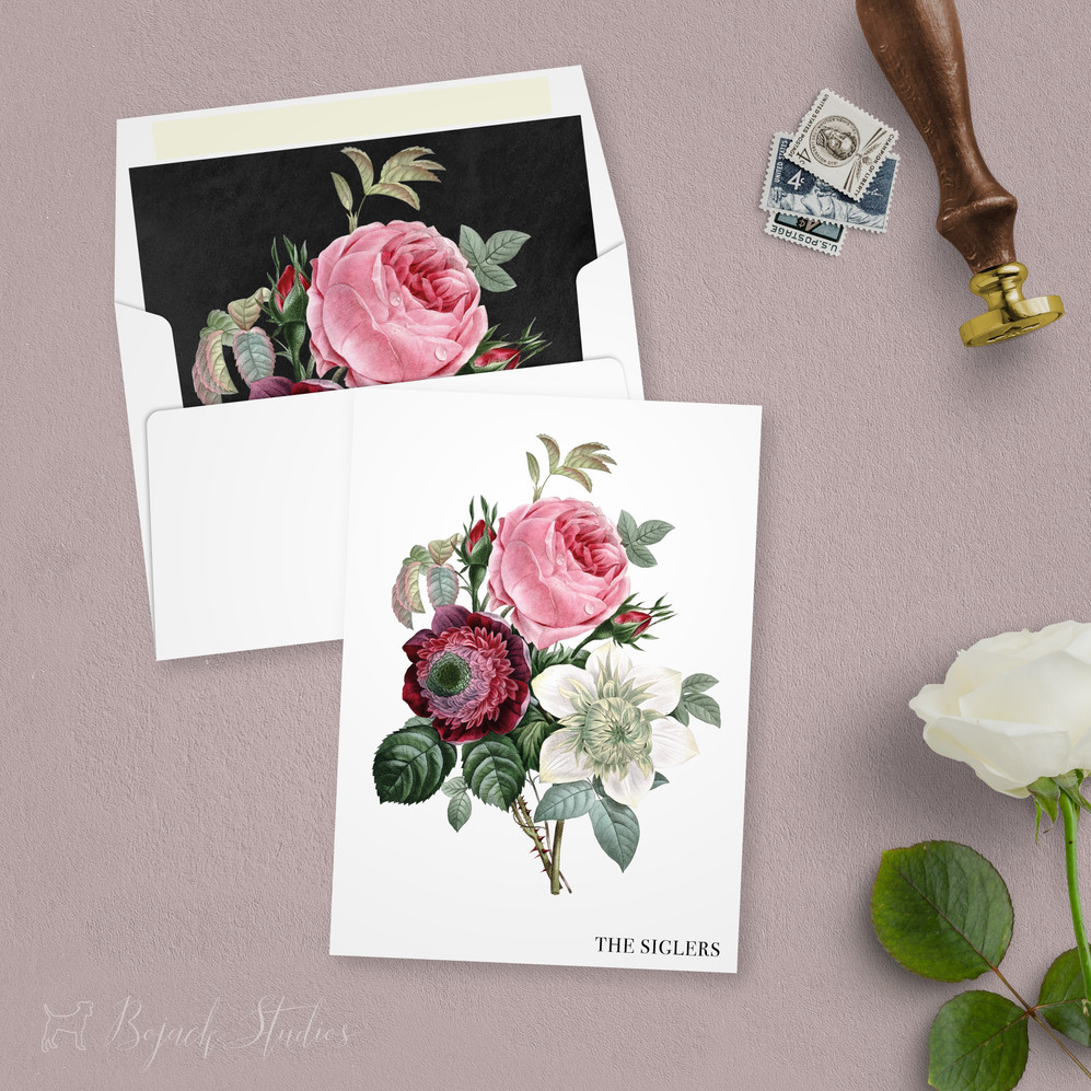 Vintage Floral Thank You Cards | Allison Fleur by Bojack Studios