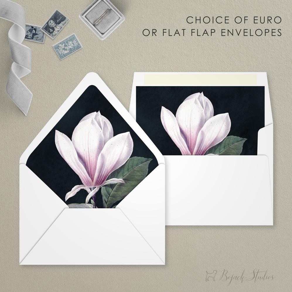 Modern Floral Envelope Liner | Addison Fleur | Bojack Studios