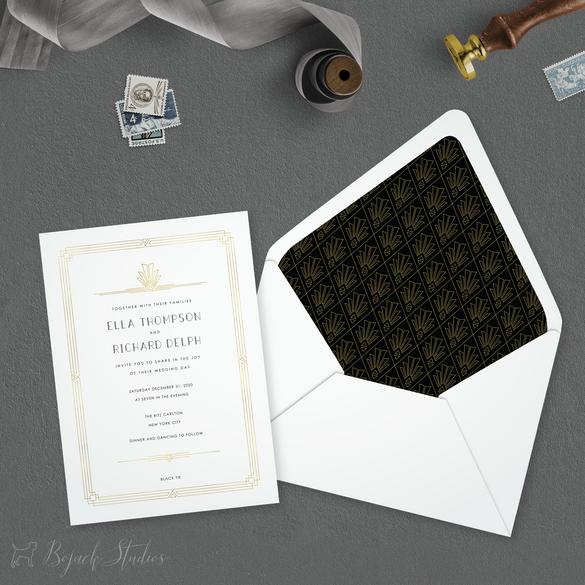 Ella Wedding Invitation by Bojack Studio