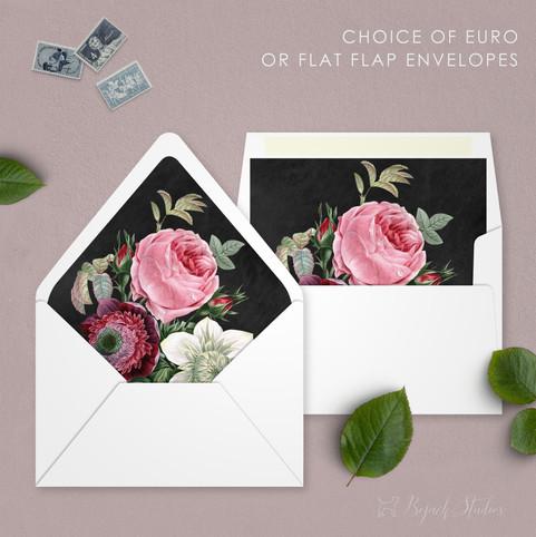 Vintage Floral Envelope Liners | Allison Fleur by Bojack Studios
