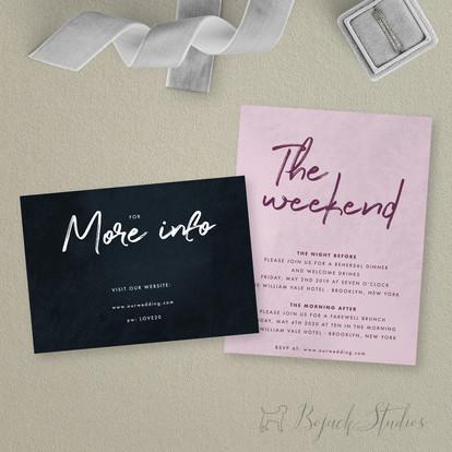 Inserts | Modern Minimal Floral Wedding Invitation | Addison Fleur by Bojack Studios