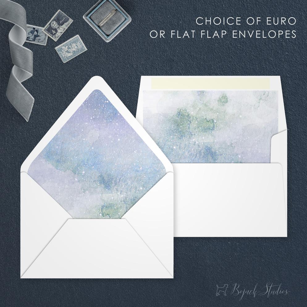 Envelopes   Modern Minimal Floral Wedding Invitation   Addison Graphique by Bojack Studios