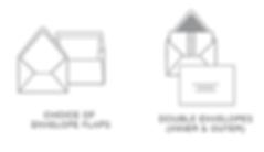 Wedding Invitation Envelopes by Bojack Studios