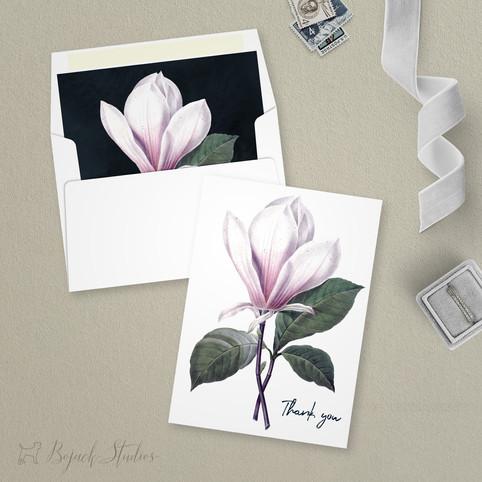 Modern Floral Thank You Card   Addison Fleur   Bojack Studios