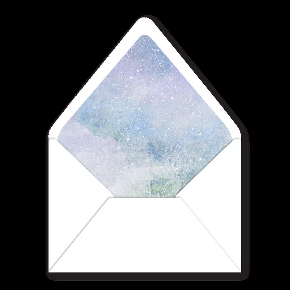 Envelope Liner   Modern Minimal Floral Wedding Invitation   Addison Graphique by Bojack Studios