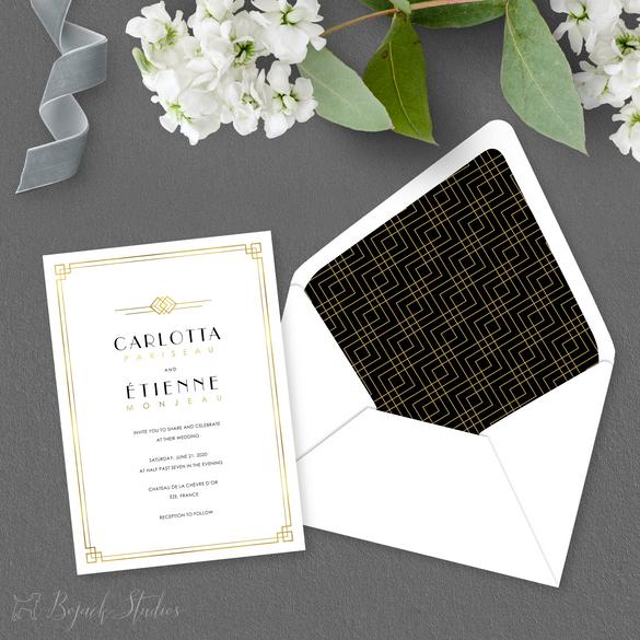 WEDDING INVITATION - Carlotta Suite - Bo