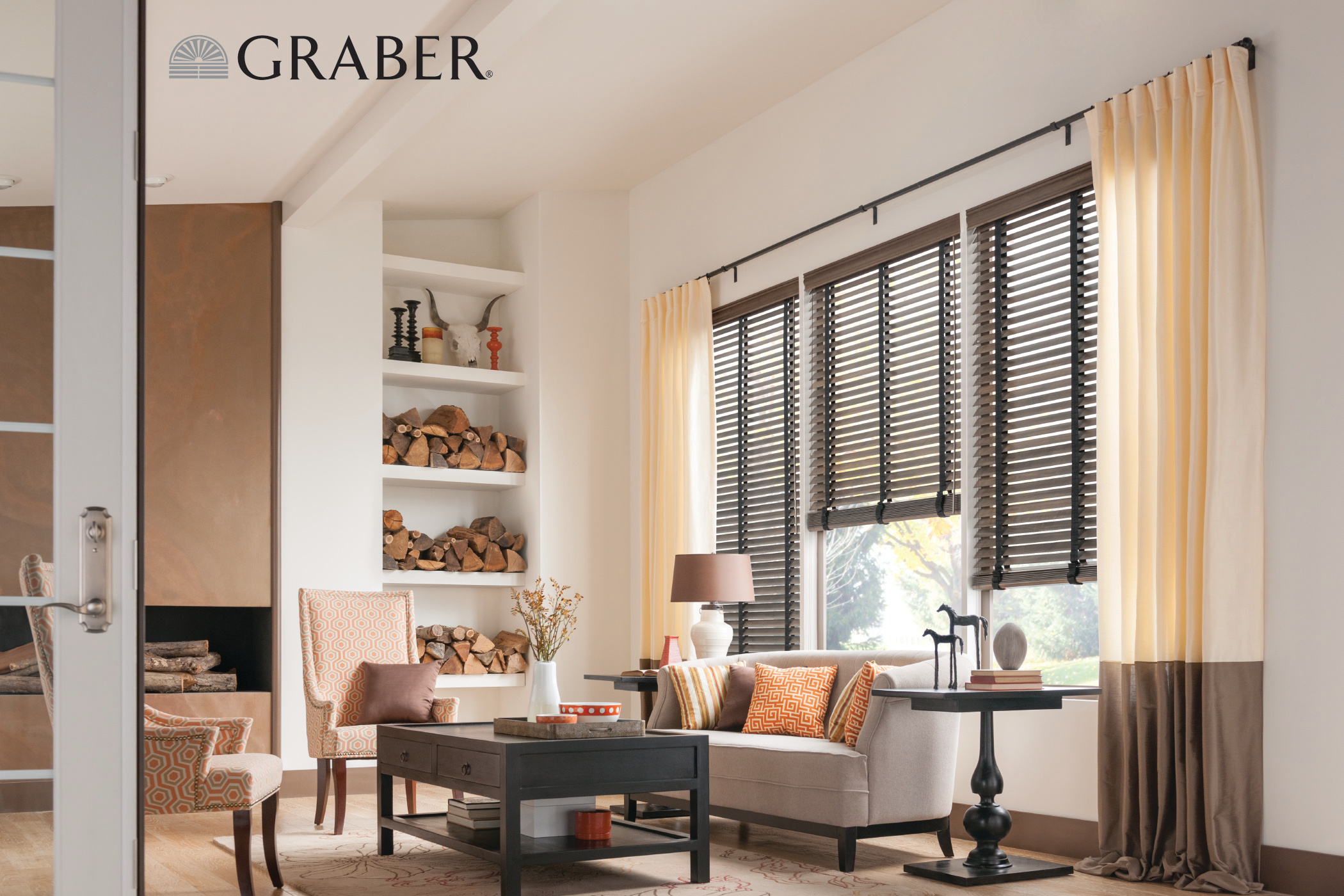 Graber Wood Shades + Drapes