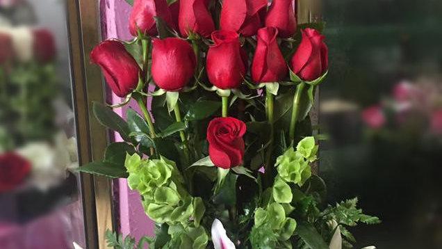 Juliet Red Roses Arrangement