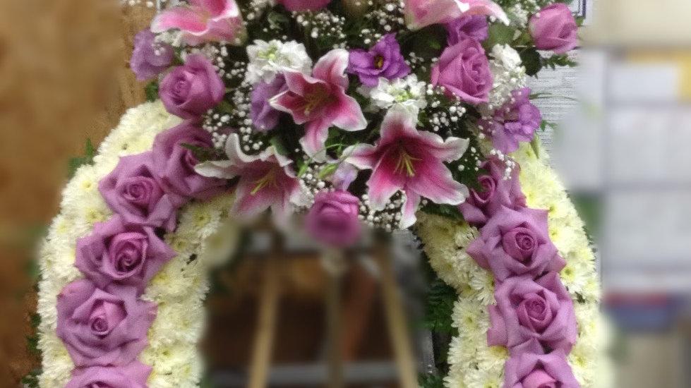 Large Lavender Sympathy Crown
