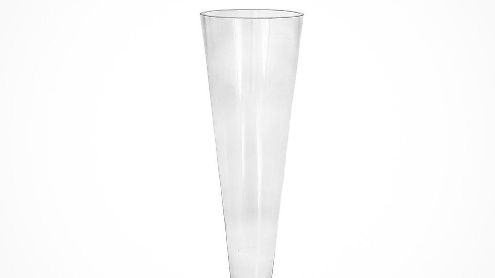"""Glass trumpet 12"""" clear 12pcs"""