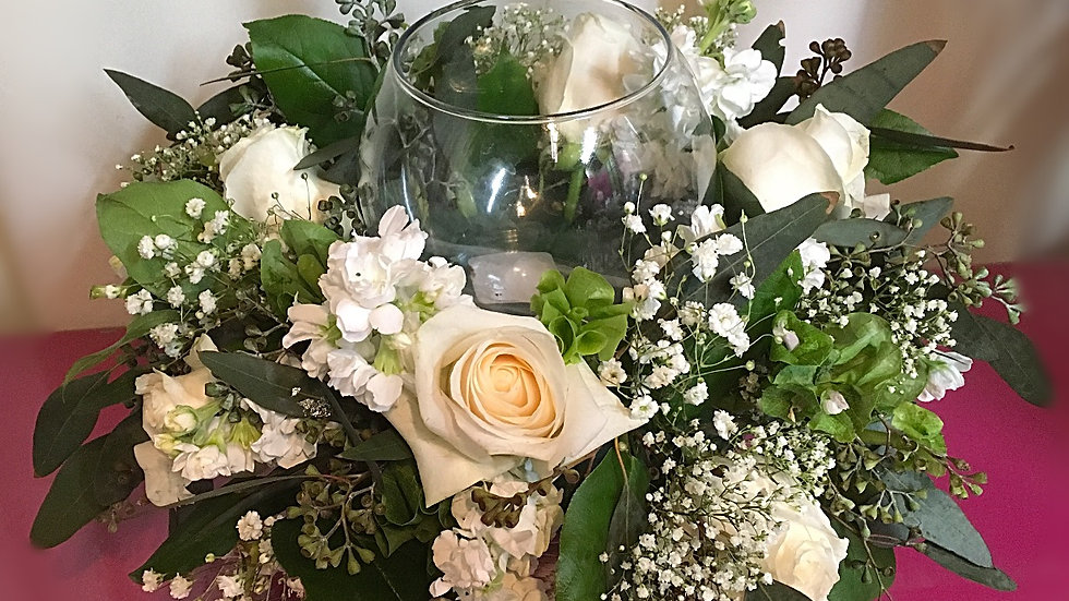 Ashes-Small White Arrangement