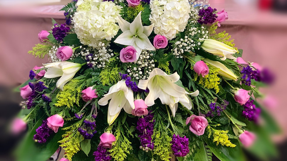 Lavender purple casket