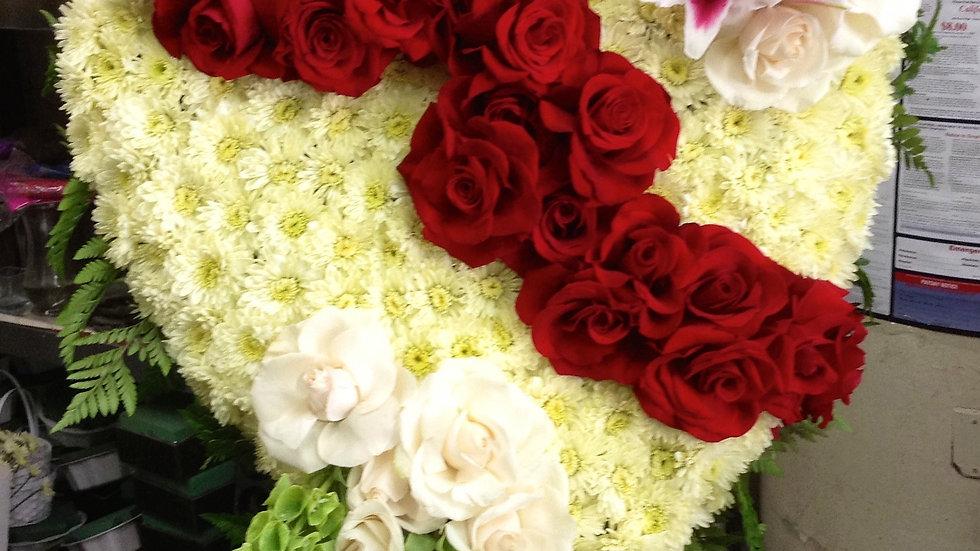 Broken Heart in Red roses
