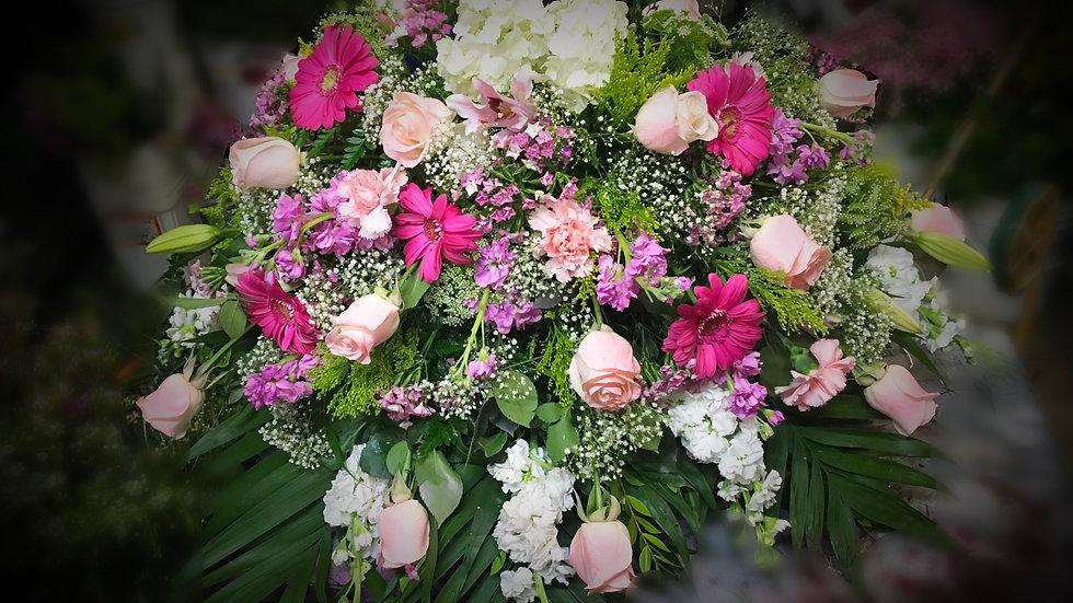Casket - Blush Pink and Fuchsia